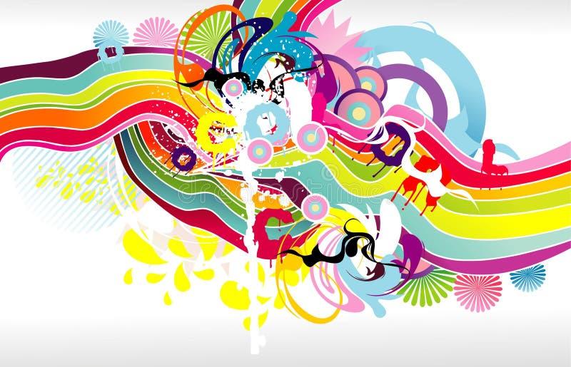 Abstracte kleurenfantasie vector illustratie