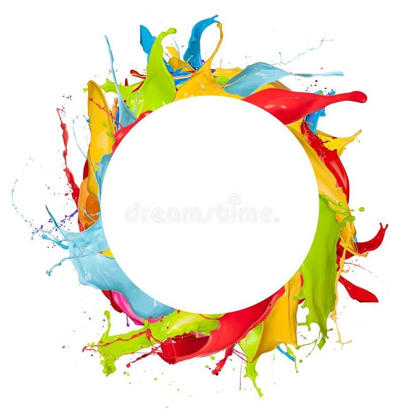 Abstracte kleurenplonsen op witte achtergrond royalty-vrije illustratie