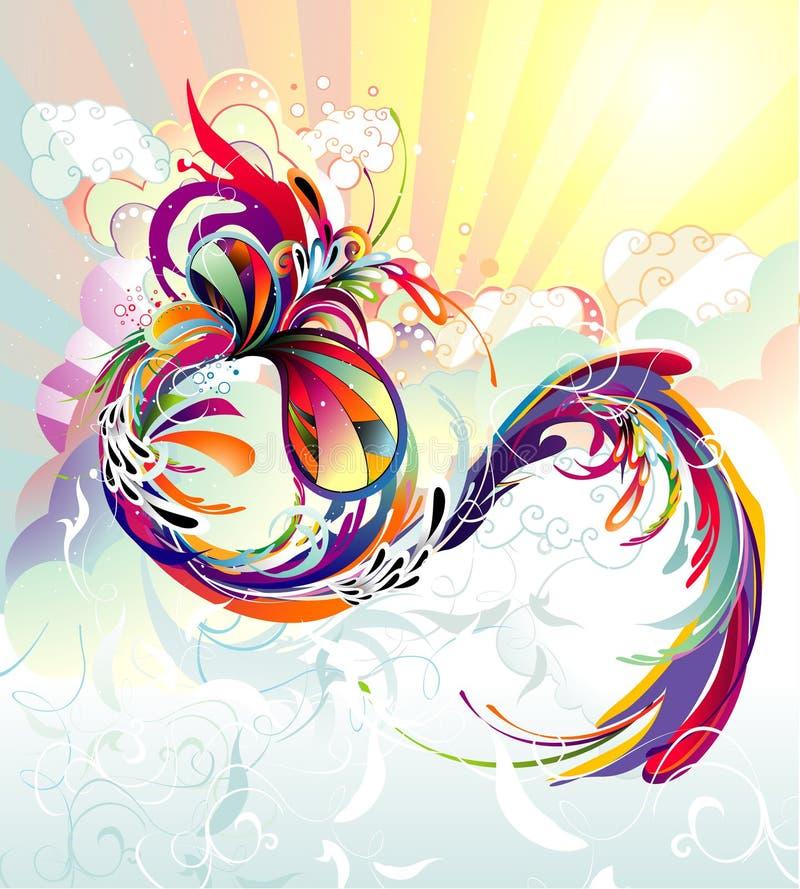 Abstracte kleurensamenstelling stock illustratie