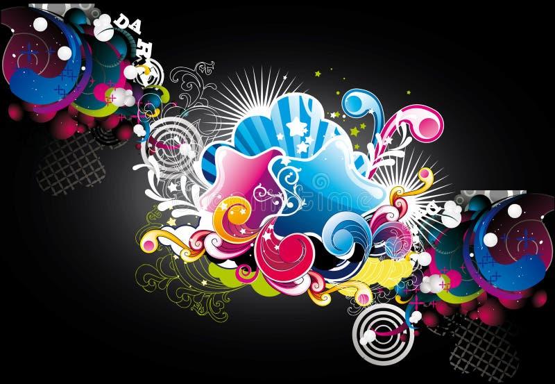Abstracte kleurensterren royalty-vrije illustratie