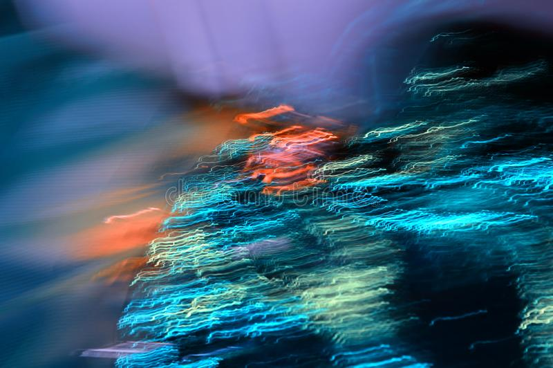 Abstracte kleurige achtergrond Digitale kunst Fogische weg Noordelijke lichten stock fotografie