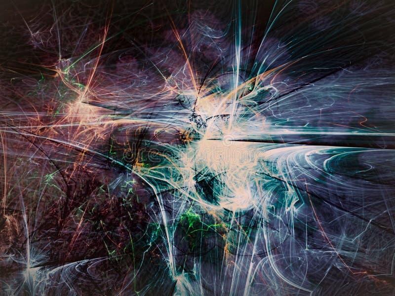 Abstracte kleurrijke achtergrond - digitaal geproduceerd beeld stock illustratie