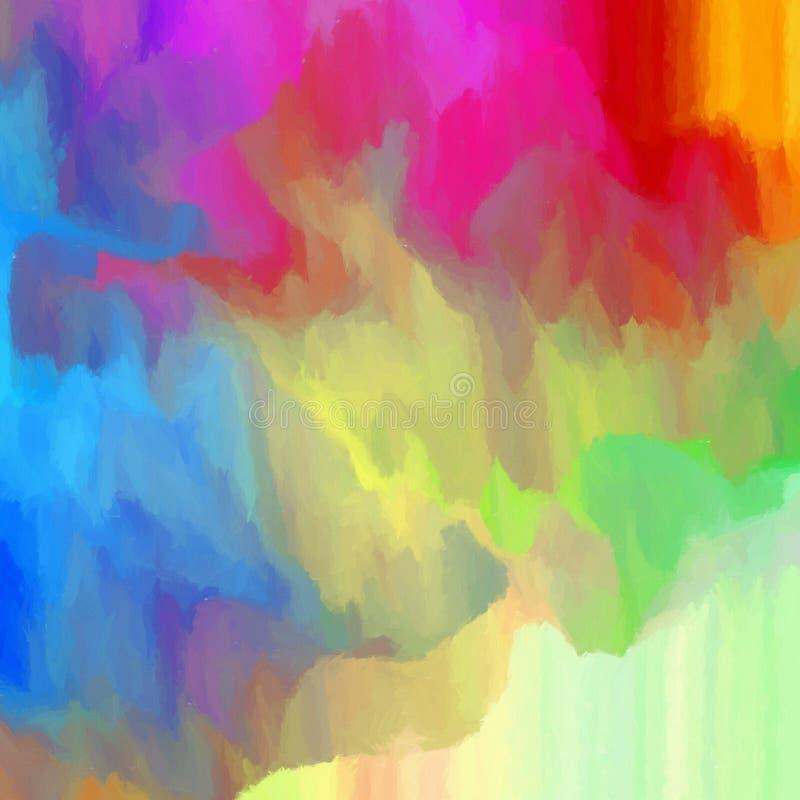 Abstracte kleurrijke achtergrond - het digitale schilderen stock illustratie