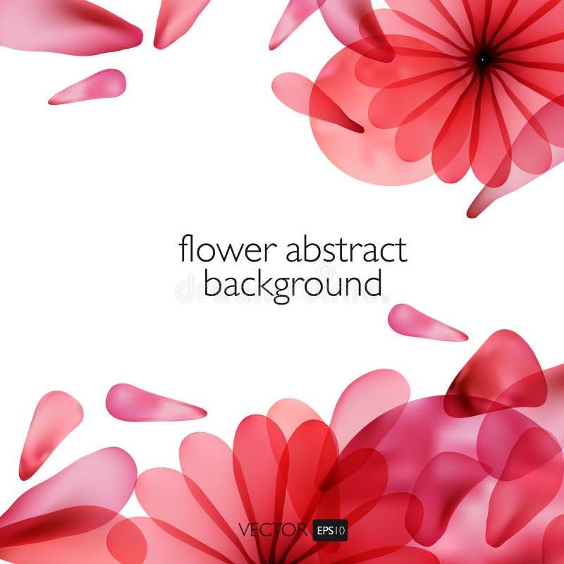 Abstracte kleurrijke achtergrond met bloemen stock illustratie
