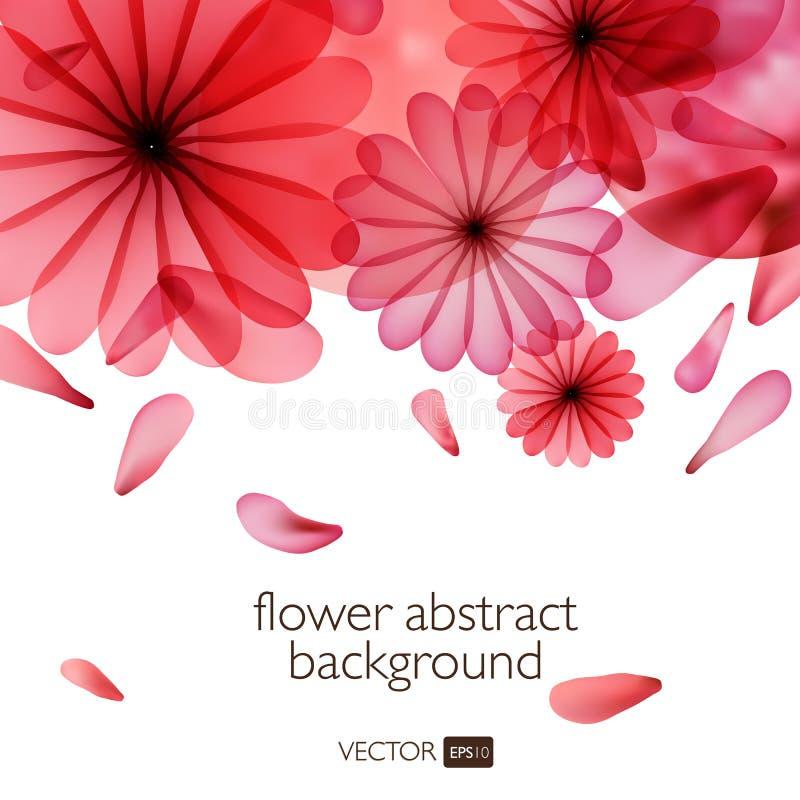 Abstracte kleurrijke achtergrond met bloemen royalty-vrije illustratie