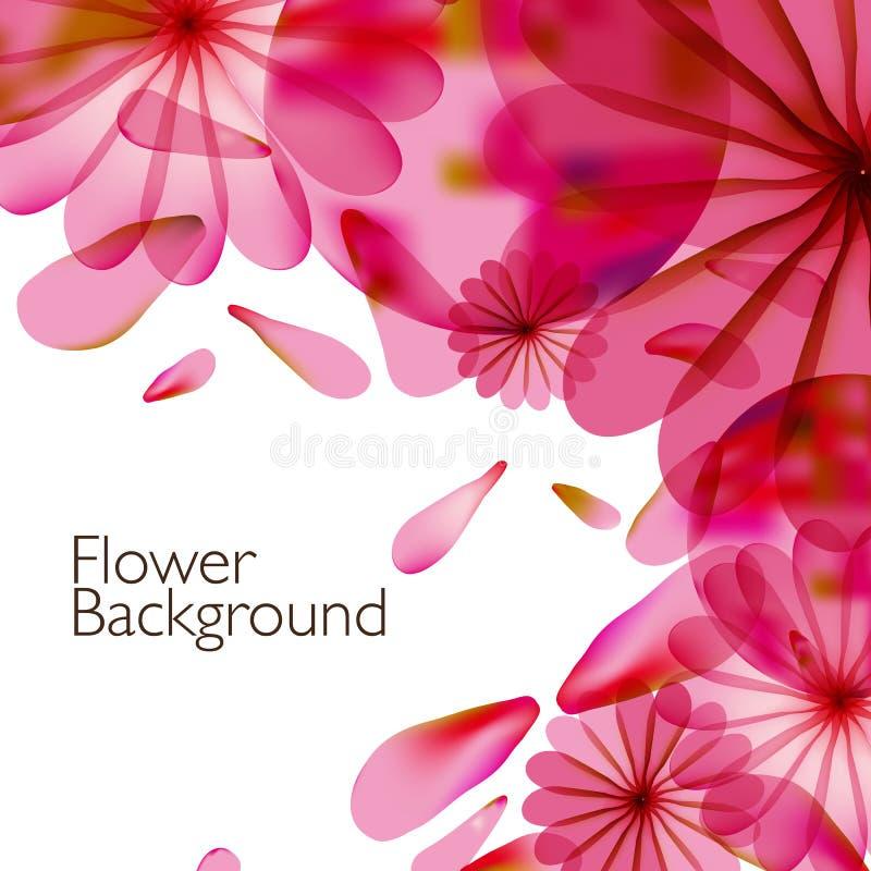 Abstracte kleurrijke achtergrond met bloemen vector illustratie
