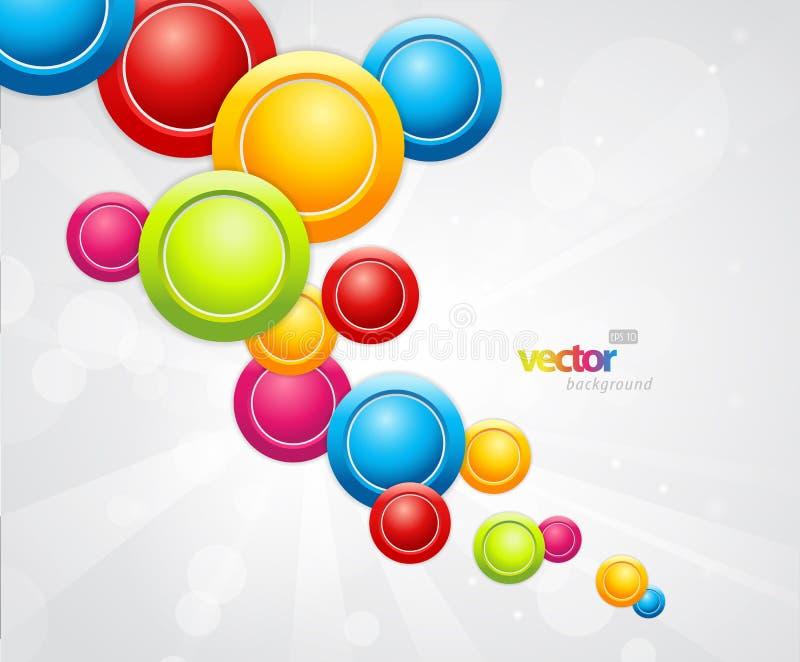 Abstracte kleurrijke achtergrond met cirkels. royalty-vrije illustratie