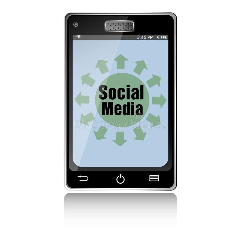 Sociale media smartphone royalty-vrije illustratie