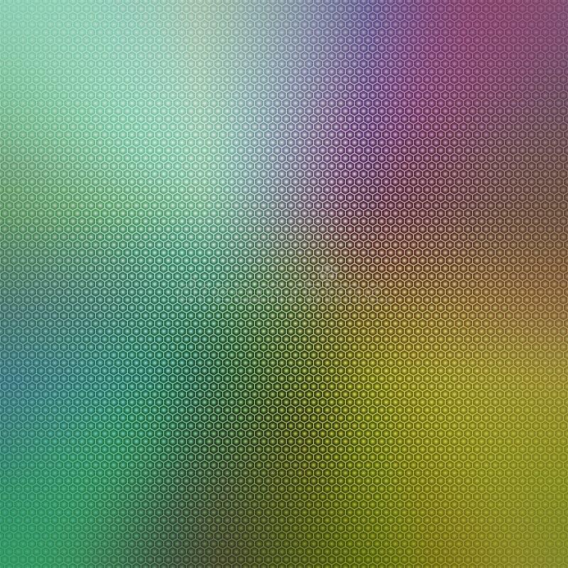 Abstracte kleurrijke achtergrond met een hexagonale bekleding van het honingraatnet stock foto's