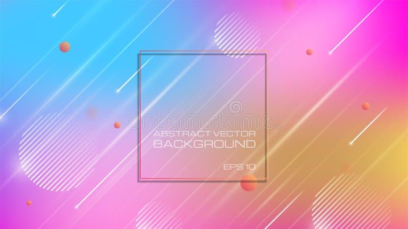 Abstracte kleurrijke achtergrond met geomatric vormen royalty-vrije illustratie