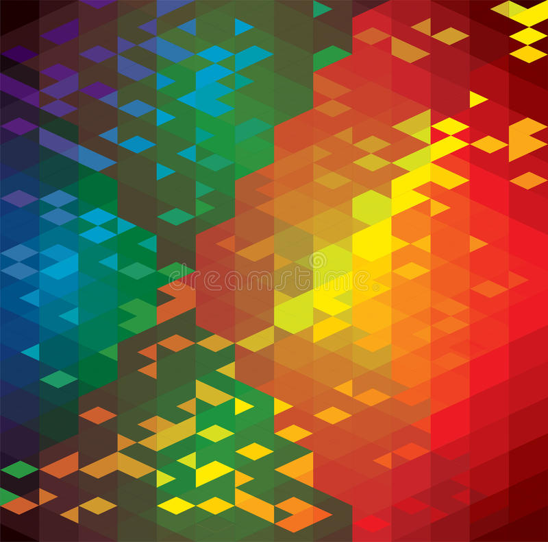 Abstracte kleurrijke achtergrond van geometrische vormen  royalty-vrije illustratie