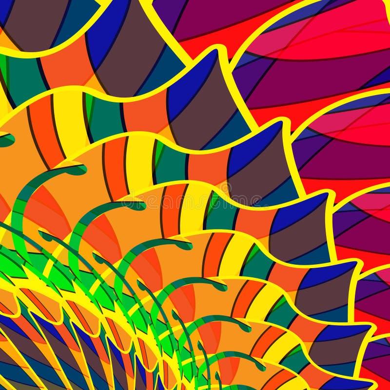 Abstracte kleurrijke achtergrond van multi-colored royalty-vrije illustratie