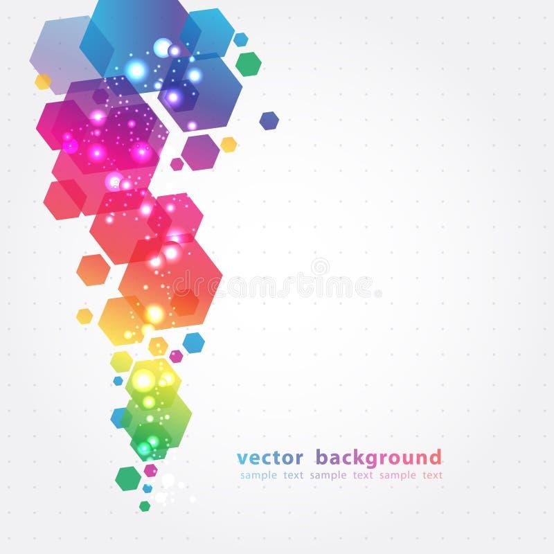 Abstracte Kleurrijke Achtergrond. Vector. stock illustratie