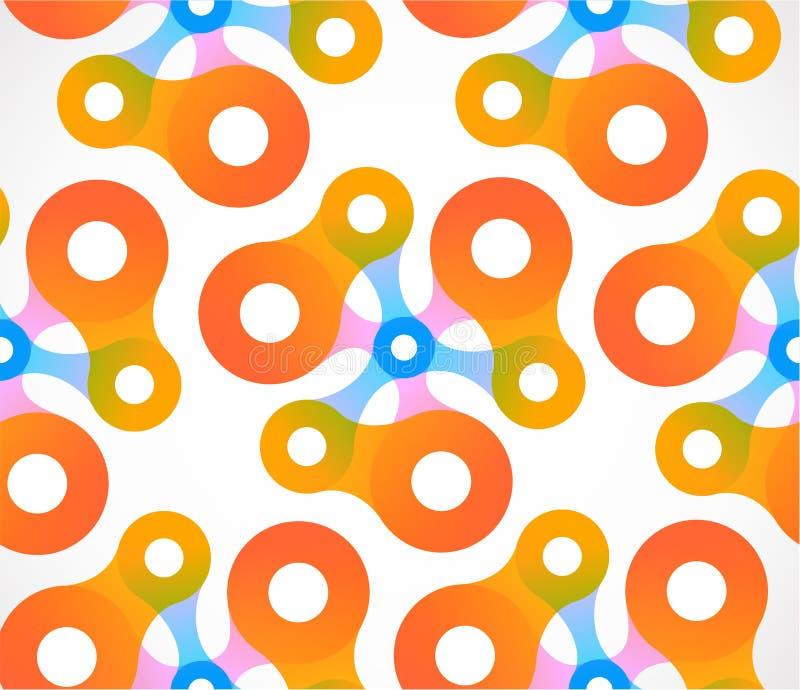 Abstracte kleurrijke achtergrondregenboogcirkels vector illustratie