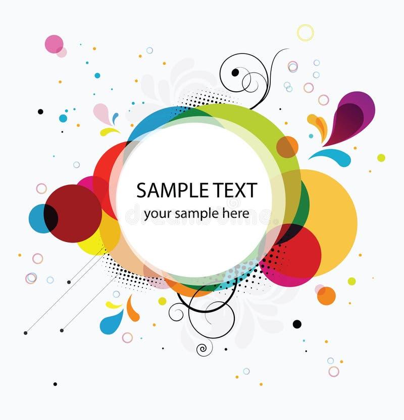 Abstracte kleurrijke banner als achtergrond vector illustratie