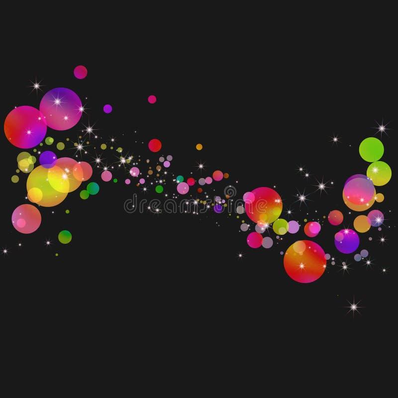 Abstracte kleurrijke bellenachtergrond stock illustratie