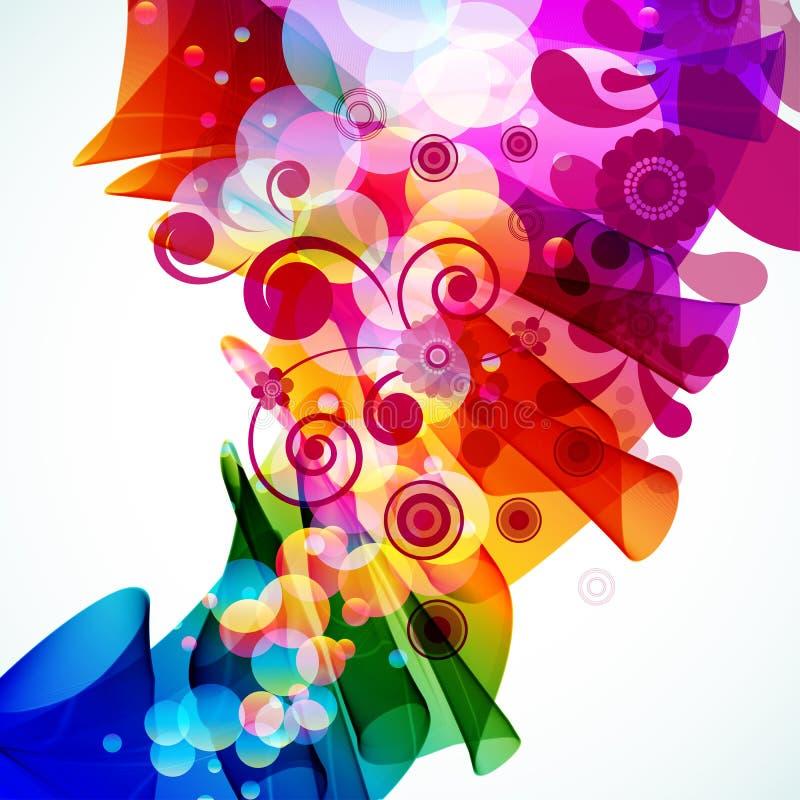 Abstracte kleurrijke bloemenachtergrond. vector illustratie