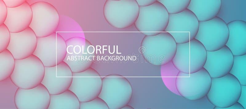 Abstracte kleurrijke cirkelachtergrond Vector illustratie royalty-vrije illustratie