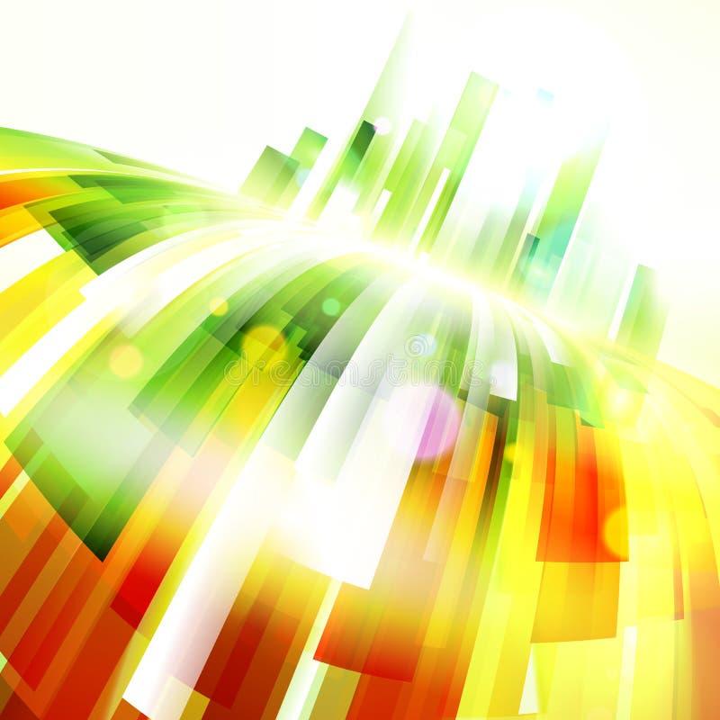Abstracte kleurrijke de lijnenachtergrond van de vooruitgangswerveling stock illustratie