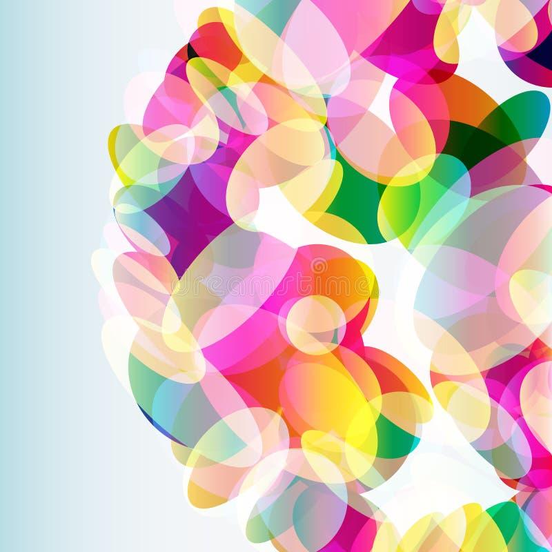 Abstracte kleurrijke die achtergrond van transparante elementen wordt gemaakt Vector stock illustratie