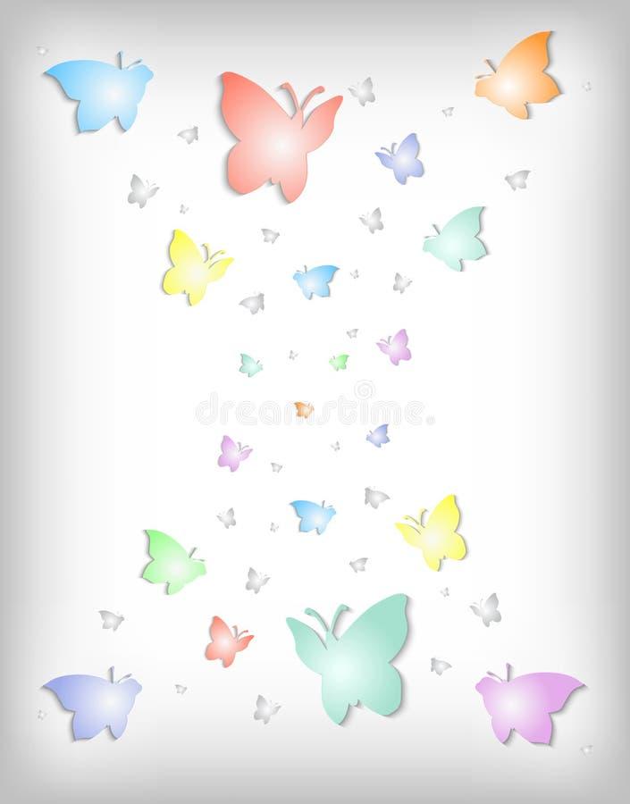 Abstracte kleurrijke document vlinders vector illustratie