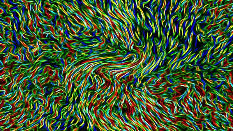 Abstracte kleurrijke draden & kabel royalty-vrije illustratie