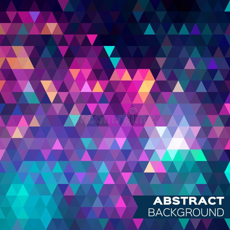 Abstracte kleurrijke geometrische driehoekenachtergrond royalty-vrije stock fotografie