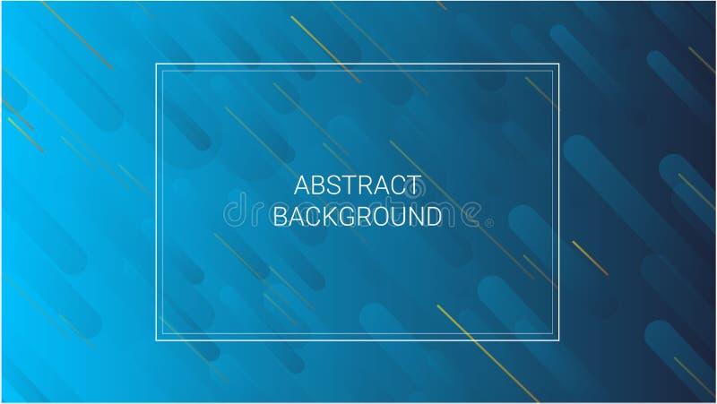 Abstracte kleurrijke geometrische dynamische vormenachtergrond met witte kaderruimte voor tekst Vectorillustratie in blauwe kleur vector illustratie