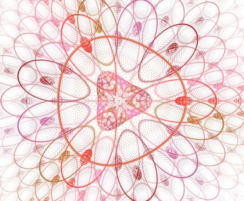 Abstracte kleurrijke geometrische patroon? ?illustratie Gezoemde cellenachtergrond, beeld Geometrische, organische vormen Fractal royalty-vrije illustratie