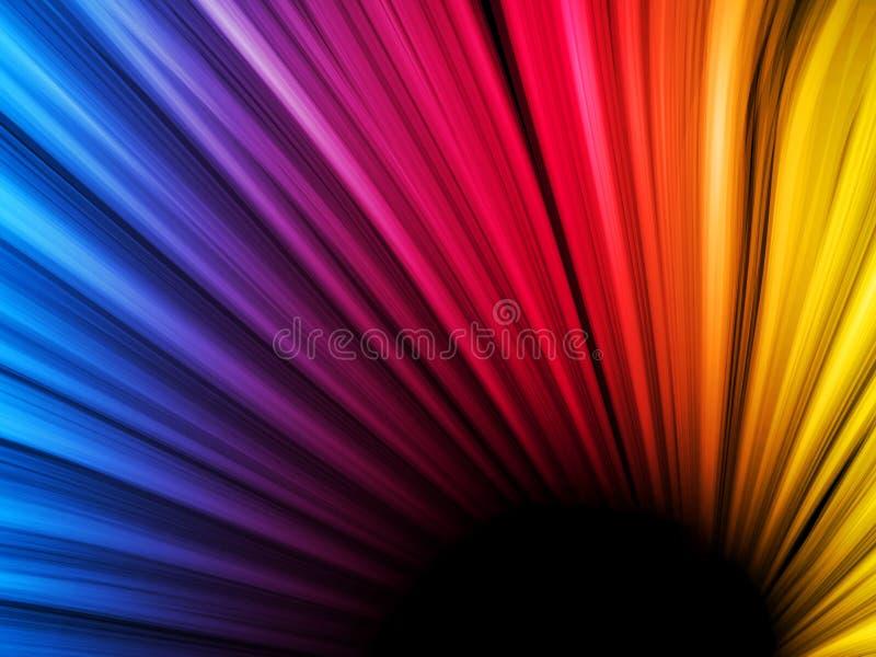 Abstracte Kleurrijke Golven op Zwarte stock illustratie