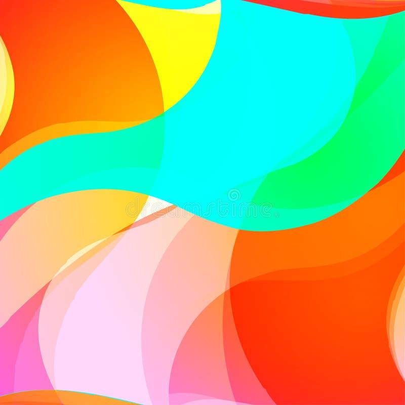 Abstracte kleurrijke golvende achtergrond Gradiënt glanzende bekleding Heldere affiche, banner, het element van het Webontwerp in royalty-vrije illustratie