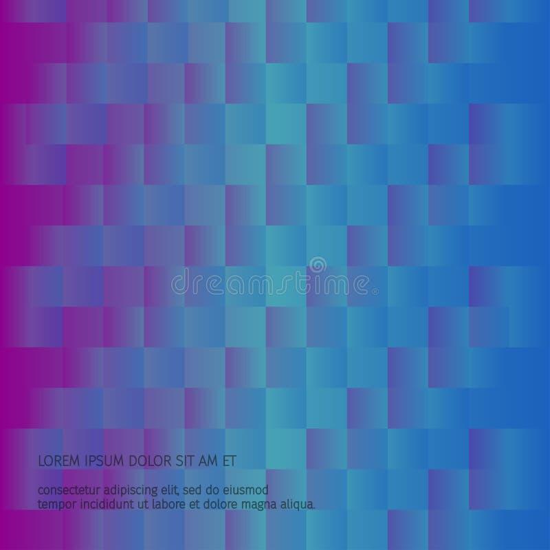 Abstracte kleurrijke gradiënt geometrische achtergrond stock illustratie