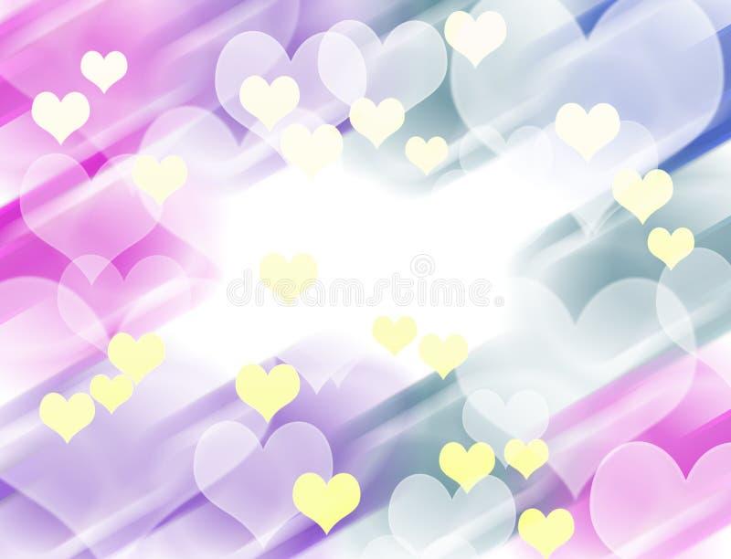 Abstracte kleurrijke hartachtergrond stock illustratie