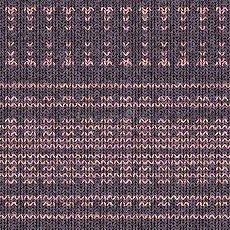 Abstracte kleurrijke het breien textuur Naadloze achtergrond voor ontwerp stock foto