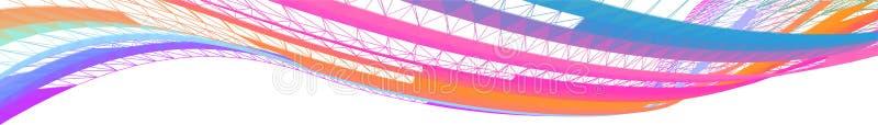 Abstracte kleurrijke horizontale vectorgolven royalty-vrije illustratie