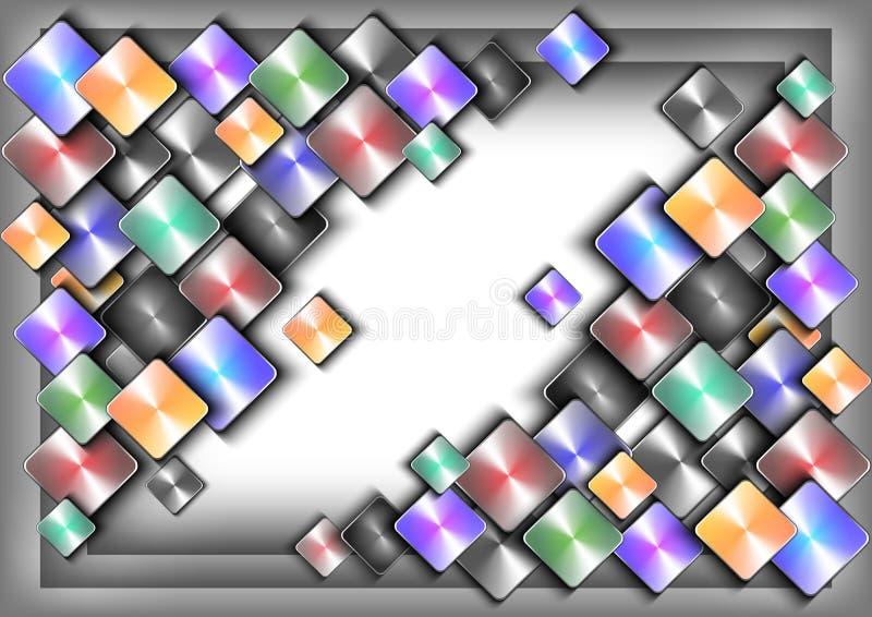 Abstracte kleurrijke knopen stock illustratie