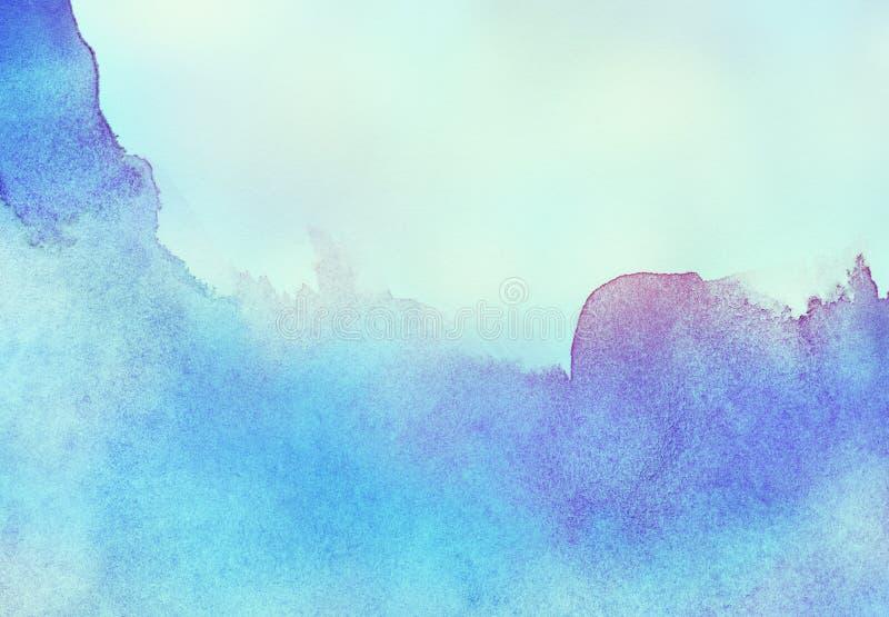 Abstracte kleurrijke licht geschilderde waterverf royalty-vrije illustratie