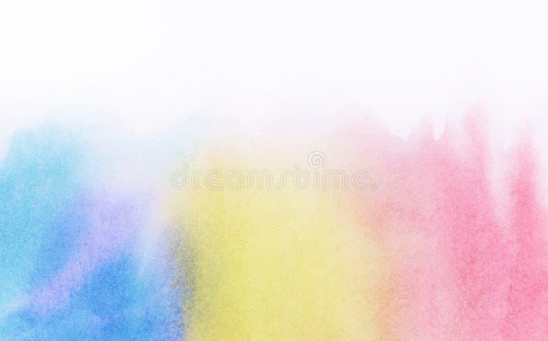Abstracte kleurrijke licht geschilderde waterverf stock illustratie