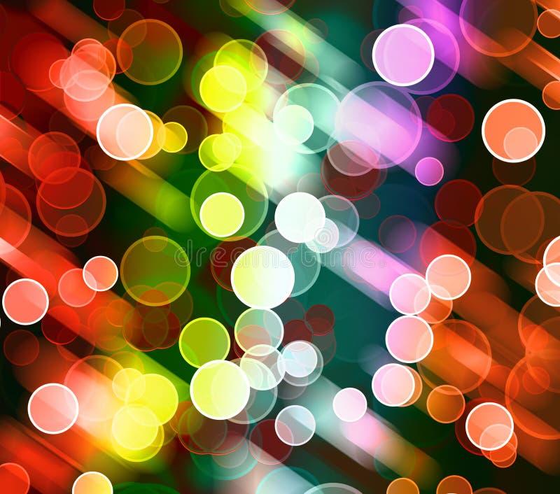 Abstracte kleurrijke lichte achtergrond royalty-vrije illustratie