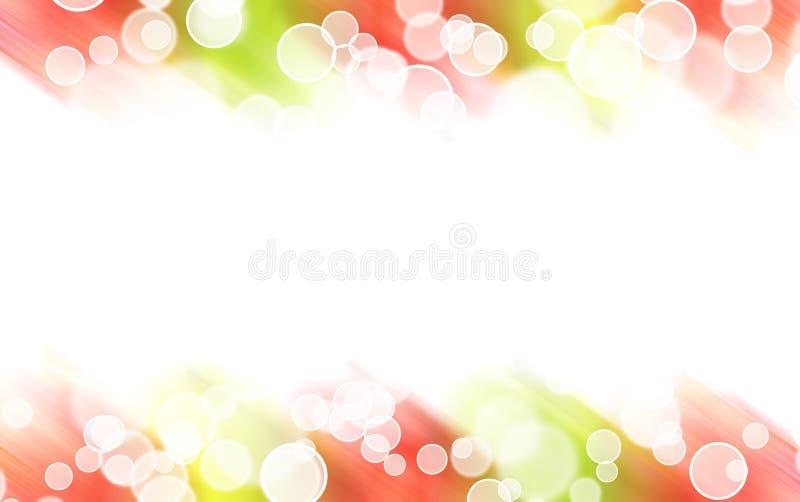 Abstracte kleurrijke lichte grens royalty-vrije illustratie