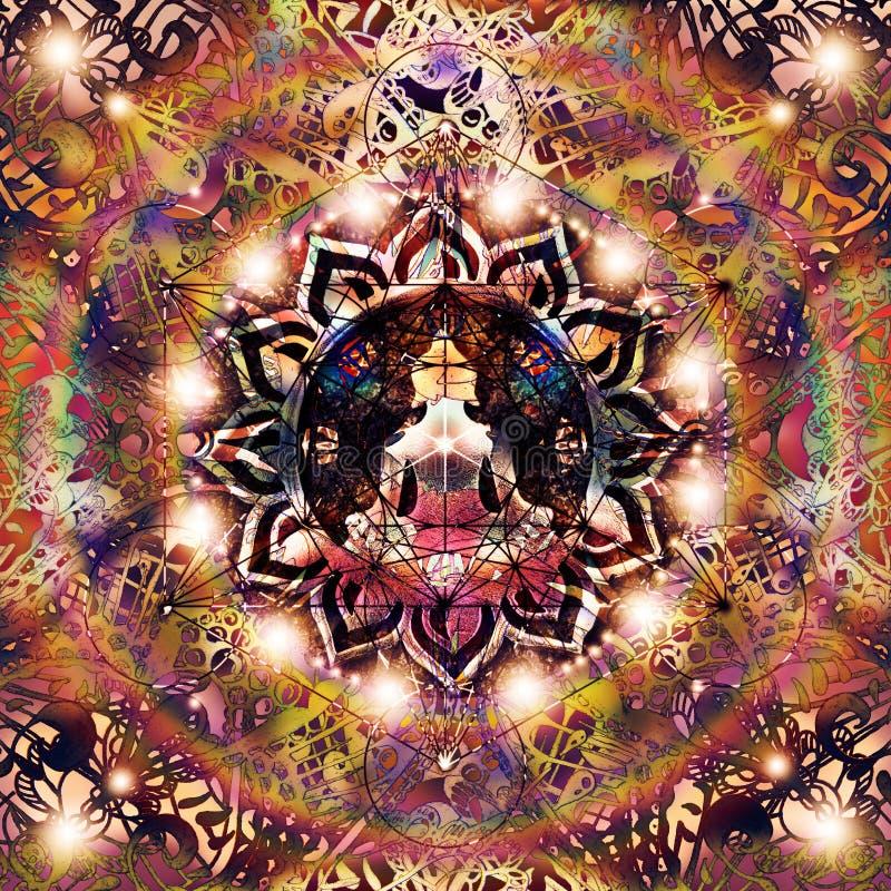 Abstracte kleurrijke mandala vector illustratie