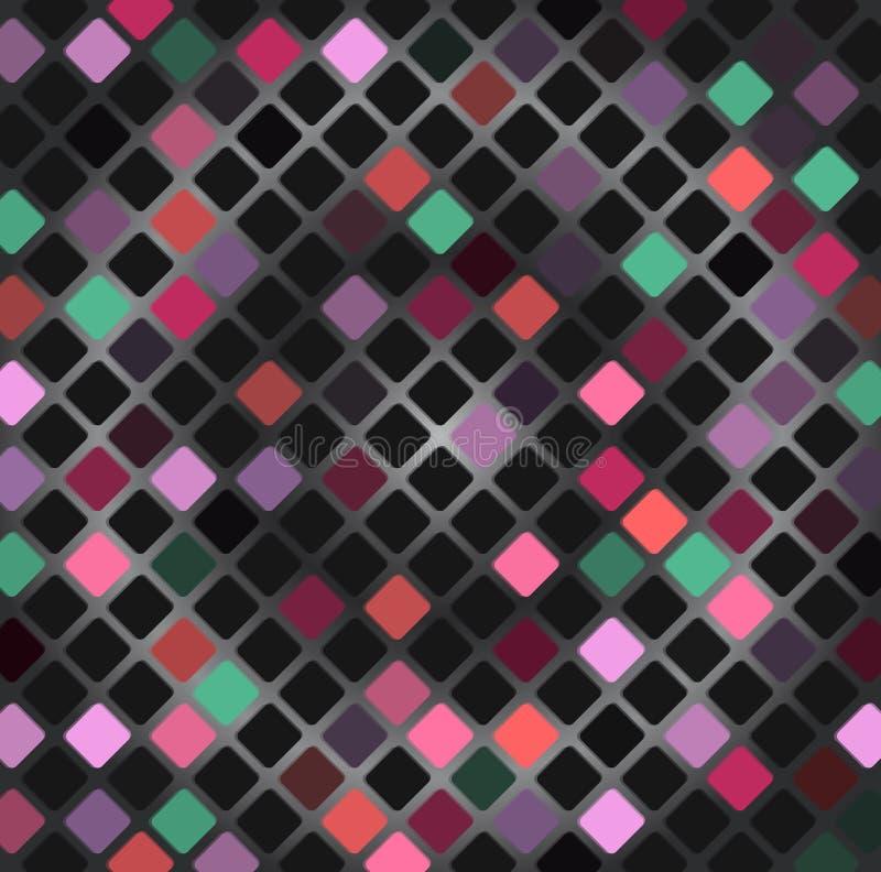Abstracte kleurrijke mozaïekachtergrond royalty-vrije illustratie
