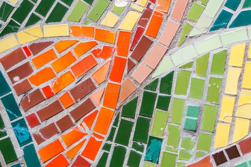 Abstracte kleurrijke mozaïektextuur als achtergrond royalty-vrije stock foto