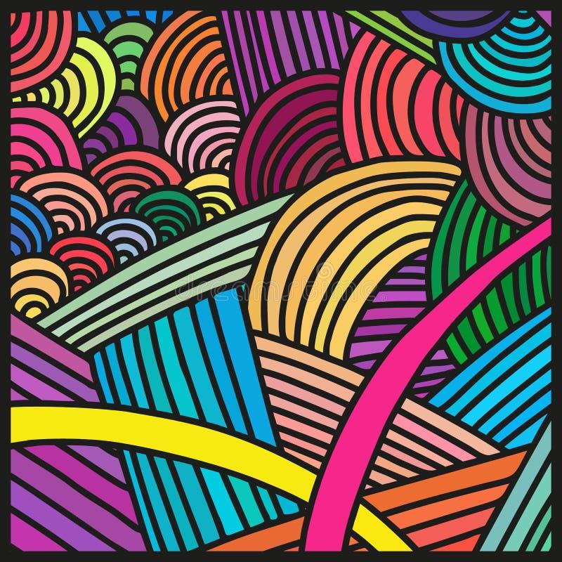 Abstracte kleurrijke patronen - drukken, achtergronden stock afbeelding