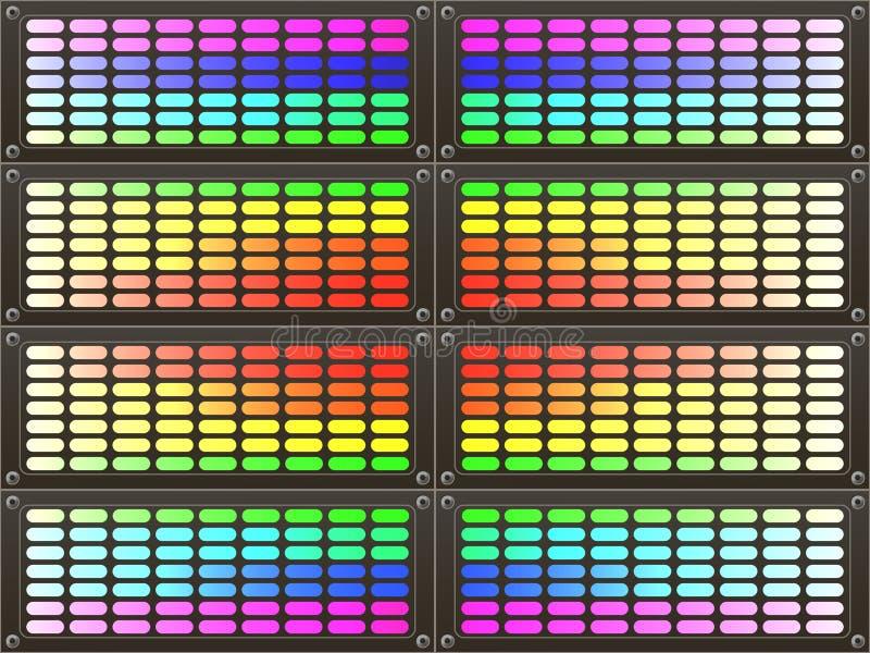 Abstracte kleurrijke regenboogachtergrond stock illustratie