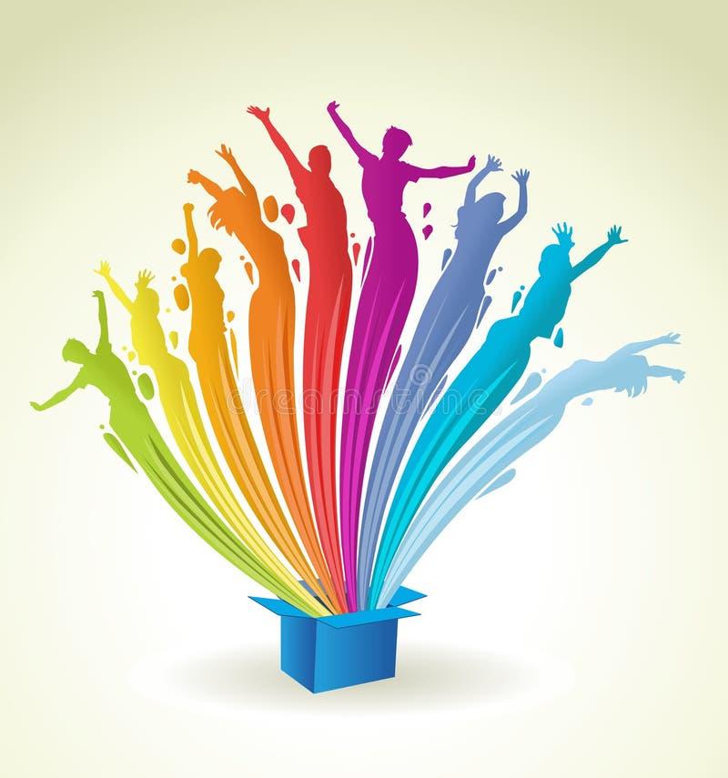 Abstracte kleurrijke regenbooglichten