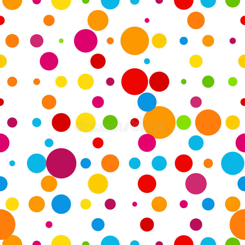 Abstracte kleurrijke ronde vieringsachtergrond royalty-vrije illustratie
