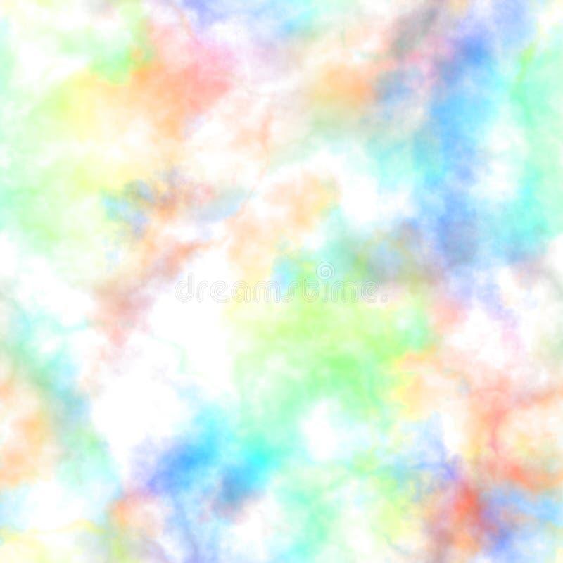 Abstracte kleurrijke rook op witte achtergrond Veelkleurige wolken Regenboog bewolkt patroon Onscherp gas stoom mist royalty-vrije illustratie