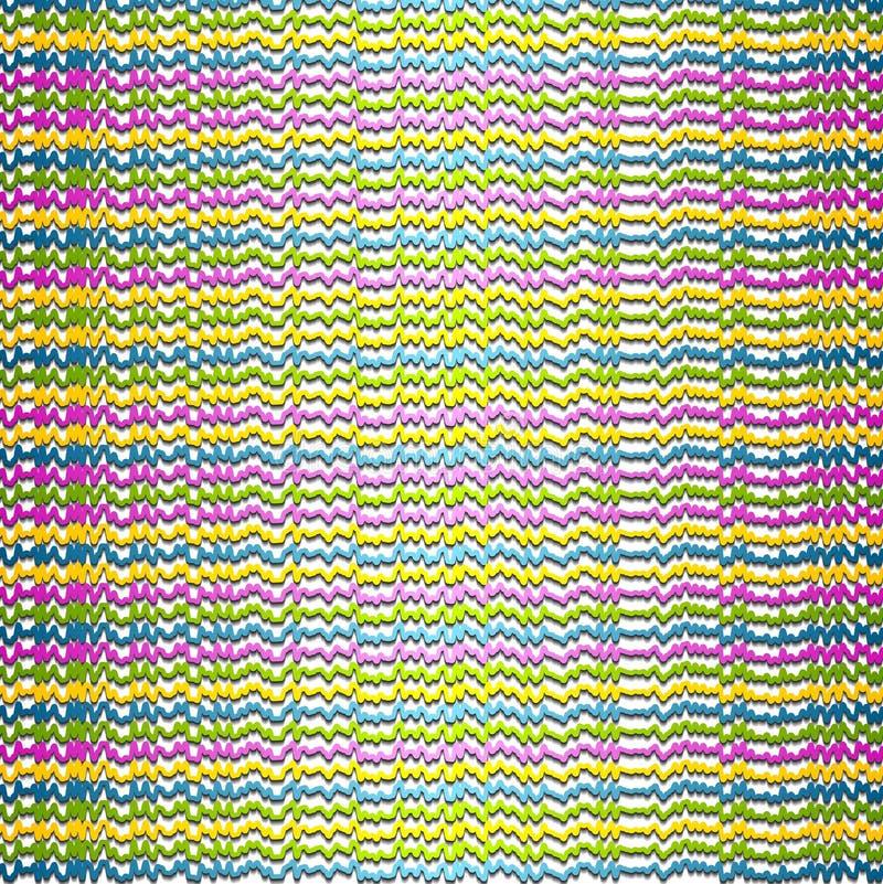 Abstracte kleurrijke ruwe strepenachtergrond vector illustratie