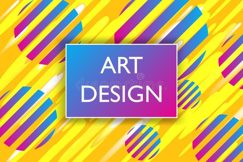 Abstracte kleurrijke speelse bannerachtergrond met het ontwerpelement van de prettextuur Vector illustratie royalty-vrije illustratie
